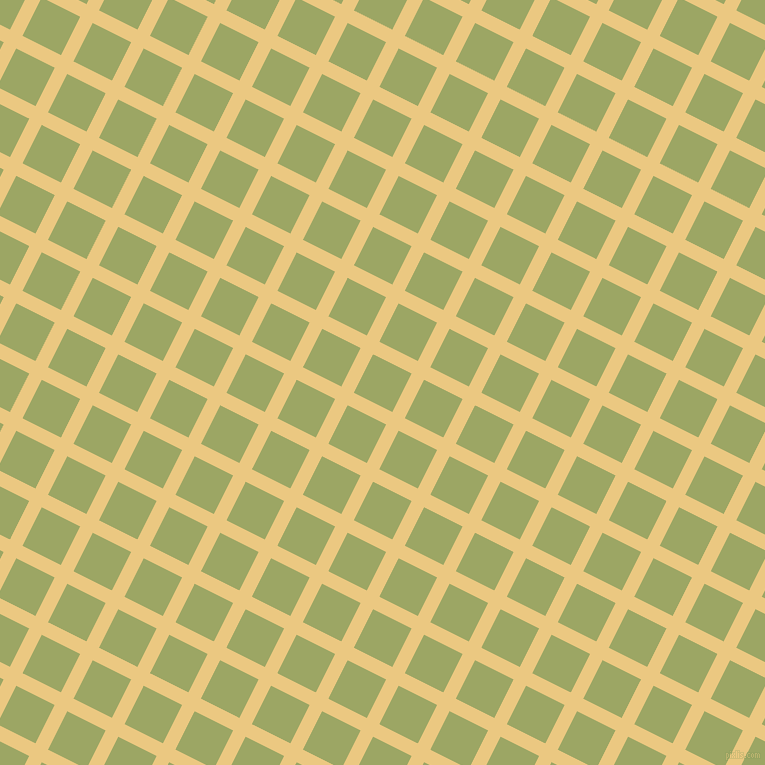 63/153 degree angle diagonal checkered chequered lines, 14 pixel line width, 43 pixel square size, Marzipan and Green Smoke plaid checkered seamless tileable