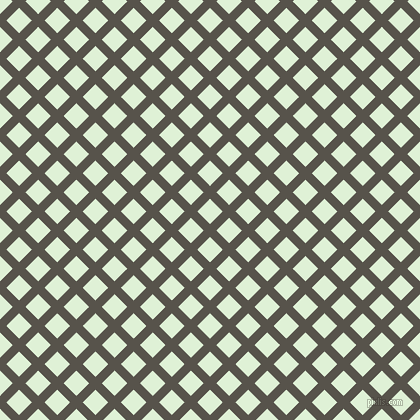 45/135 degree angle diagonal checkered chequered lines, 9 pixel line width, 18 pixel square size, Masala and Hint Of Green plaid checkered seamless tileable