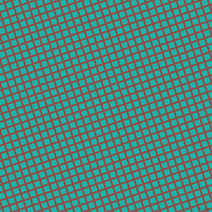 18/108 degree angle diagonal checkered chequered lines, 6 pixel lines width, 18 pixel square size, Matrix and Light Sea Green plaid checkered seamless tileable