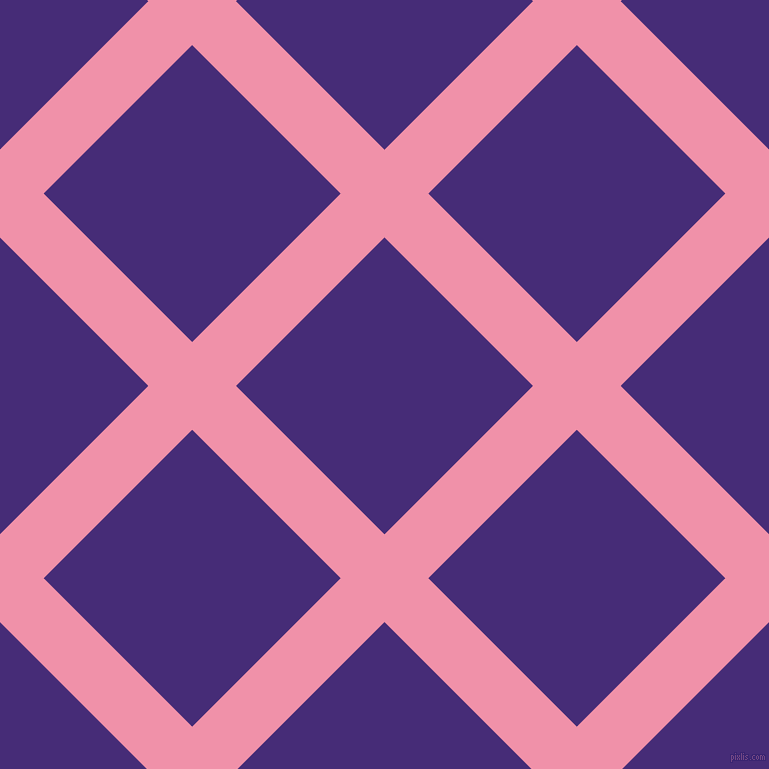 45/135 degree angle diagonal checkered chequered lines, 62 pixel lines width, 210 pixel square size, Mauvelous and Windsor plaid checkered seamless tileable