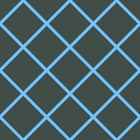 45/135 degree angle diagonal checkered chequered lines, 12 pixel line width, 120 pixel square size, Maya Blue and Corduroy plaid checkered seamless tileable