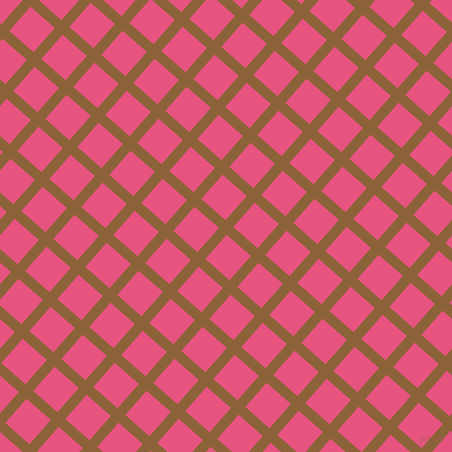 49/139 degree angle diagonal checkered chequered lines, 15 pixel line width, 47 pixel square size, McKenzie and Dark Pink plaid checkered seamless tileable