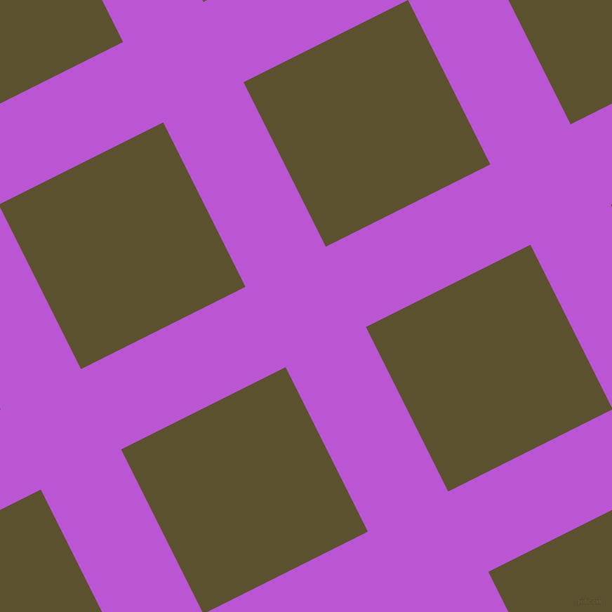 27/117 degree angle diagonal checkered chequered lines, 128 pixel line width, 262 pixel square size, Medium Orchid and West Coast plaid checkered seamless tileable