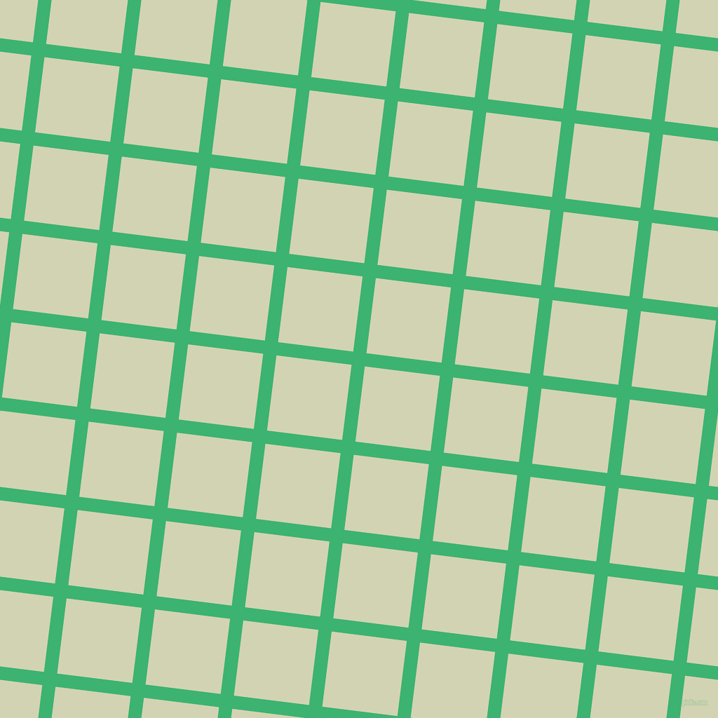 83/173 degree angle diagonal checkered chequered lines, 19 pixel lines width, 108 pixel square size, Medium Sea Green and Orinoco plaid checkered seamless tileable