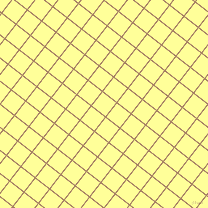 52/142 degree angle diagonal checkered chequered lines, 4 pixel line width, 55 pixel square size, Medium Wood and Canary plaid checkered seamless tileable