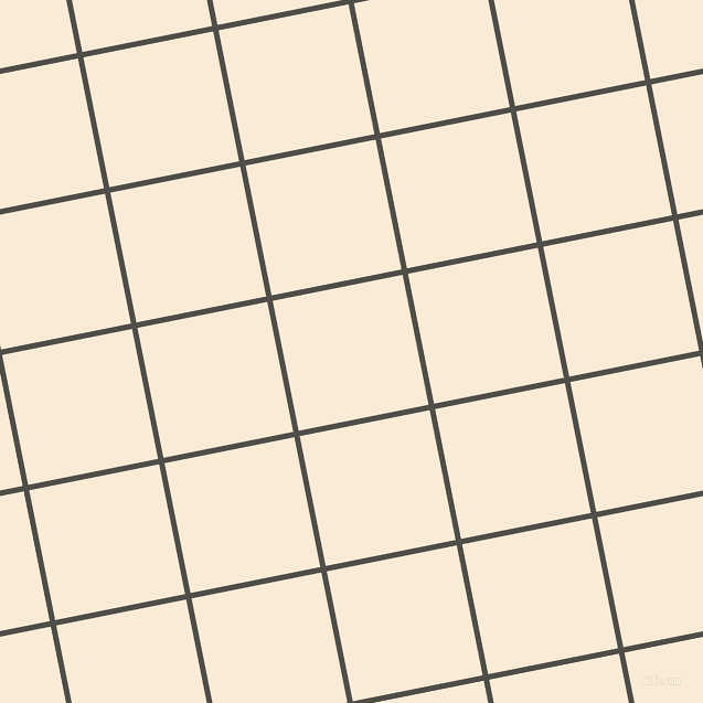 11/101 degree angle diagonal checkered chequered lines, 5 pixel line width, 120 pixel square size, Merlin and Antique White plaid checkered seamless tileable