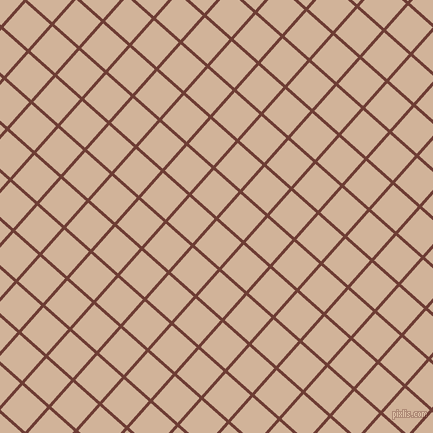 48/138 degree angle diagonal checkered chequered lines, 3 pixel lines width, 33 pixel square size, Metallic Copper and Cashmere plaid checkered seamless tileable