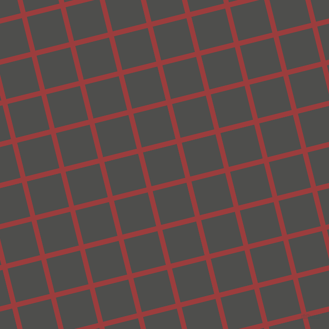 14/104 degree angle diagonal checkered chequered lines, 10 pixel lines width, 68 pixel square size, Mexican Red and Ship Grey plaid checkered seamless tileable