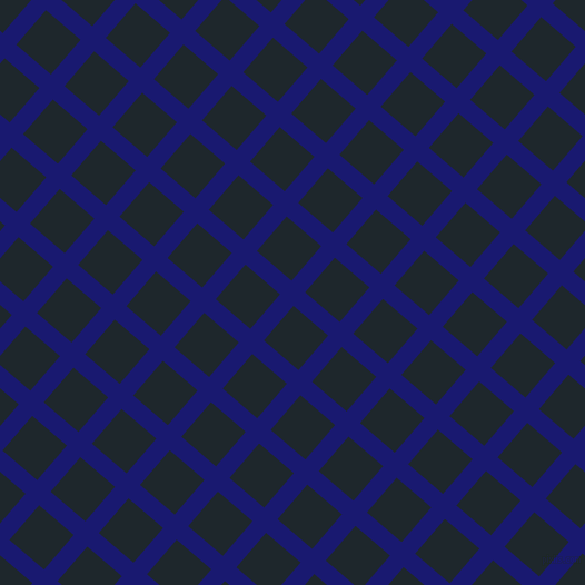 49/139 degree angle diagonal checkered chequered lines, 16 pixel line width, 41 pixel square size, Midnight Blue and Black Pearl plaid checkered seamless tileable