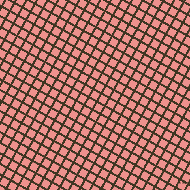 61/151 degree angle diagonal checkered chequered lines, 7 pixel line width, 25 pixel square size, Mikado and Sweet Pink plaid checkered seamless tileable