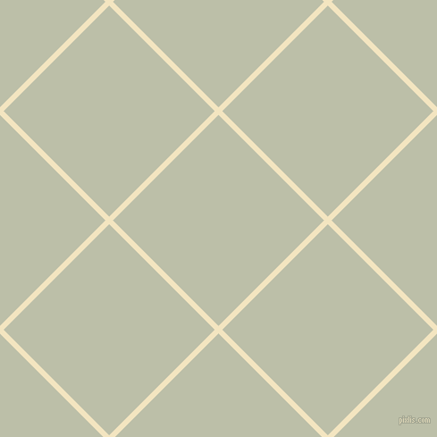 45/135 degree angle diagonal checkered chequered lines, 6 pixel line width, 167 pixel square size, Milk Punch and Beryl Green plaid checkered seamless tileable