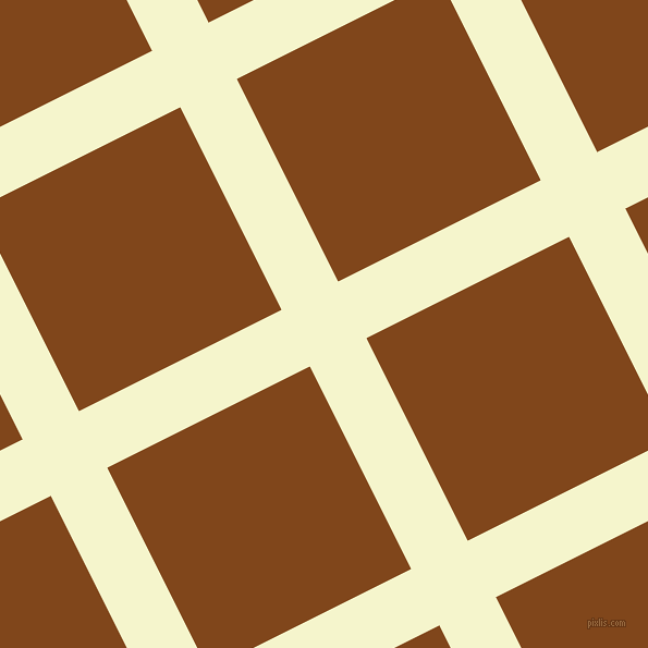 27/117 degree angle diagonal checkered chequered lines, 58 pixel line width, 208 pixel square size, Mimosa and Russet plaid checkered seamless tileable