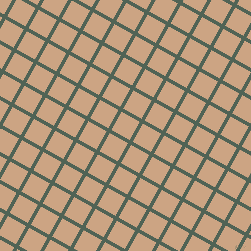 61/151 degree angle diagonal checkered chequered lines, 12 pixel line width, 70 pixel square size, Mineral Green and Cameo plaid checkered seamless tileable