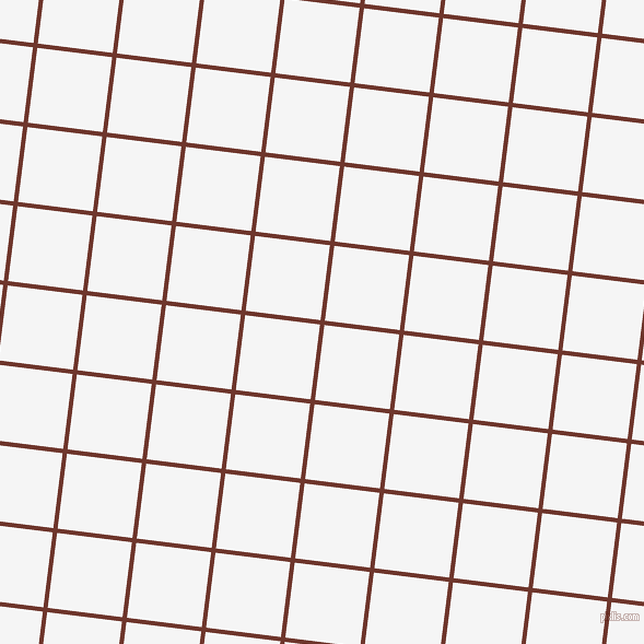 83/173 degree angle diagonal checkered chequered lines, 4 pixel line width, 69 pixel square size, Mocha and White Smoke plaid checkered seamless tileable