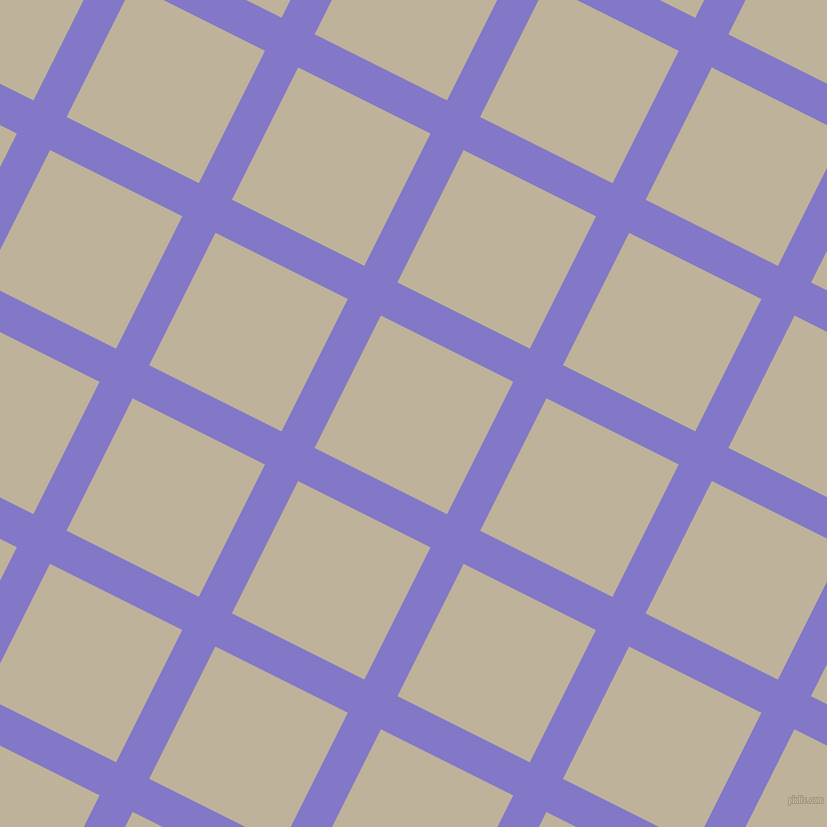 63/153 degree angle diagonal checkered chequered lines, 37 pixel lines width, 148 pixel square size, Moody Blue and Akaroa plaid checkered seamless tileable