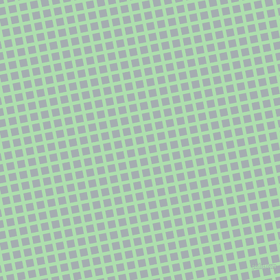 11/101 degree angle diagonal checkered chequered lines, 5 pixel line width, 11 pixel square size, Moss Green and Gull Grey plaid checkered seamless tileable
