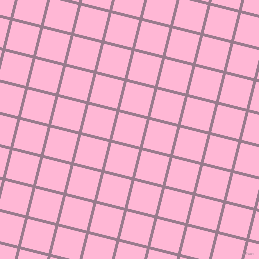 76/166 degree angle diagonal checkered chequered lines, 10 pixel lines width, 98 pixel square size, Mountbatten Pink and Cotton Candy plaid checkered seamless tileable