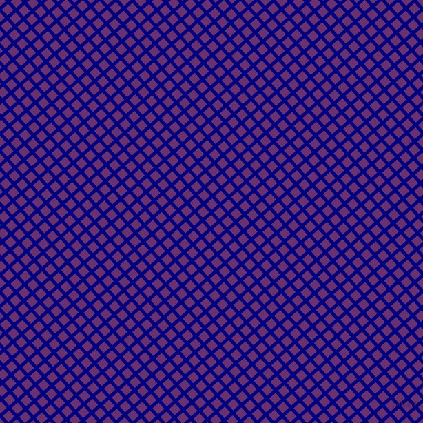 42/132 degree angle diagonal checkered chequered lines, 5 pixel line width, 12 pixel square size, Navy and Seance plaid checkered seamless tileable