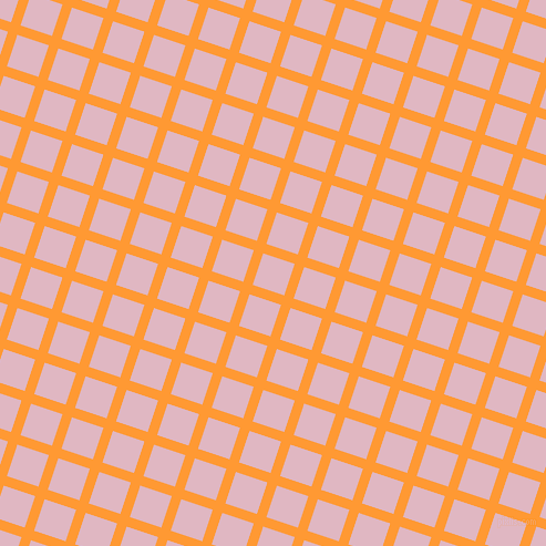 72/162 degree angle diagonal checkered chequered lines, 9 pixel line width, 30 pixel square size, Neon Carrot and Melanie plaid checkered seamless tileable