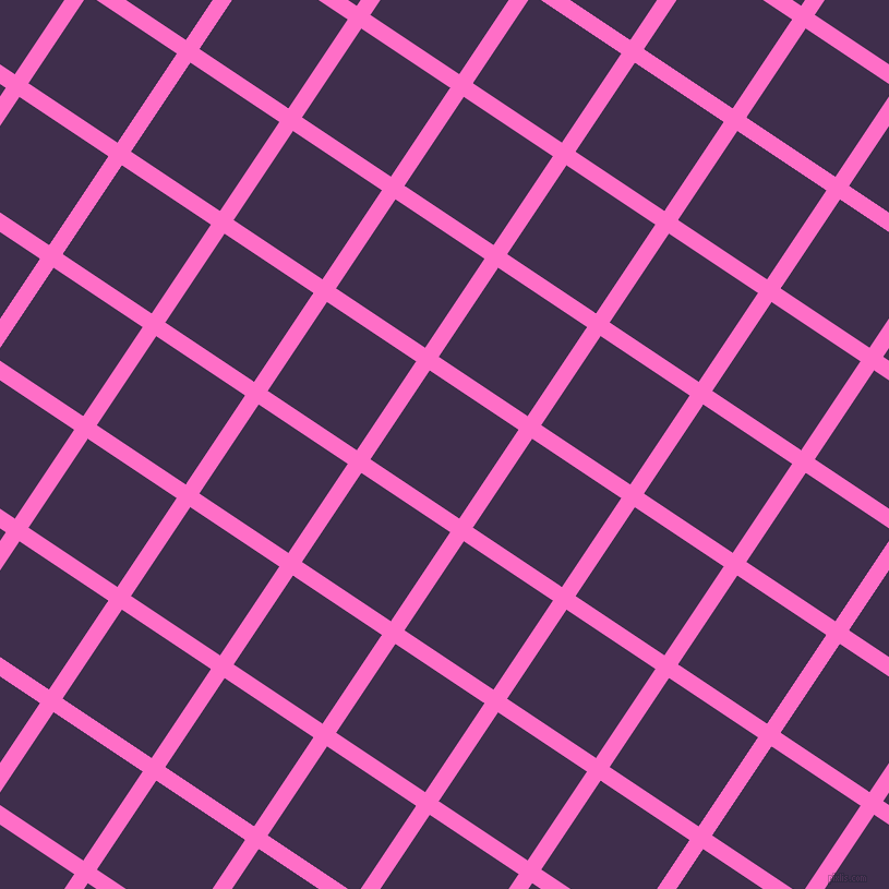 56/146 degree angle diagonal checkered chequered lines, 15 pixel lines width, 98 pixel square size, Neon Pink and Jagger plaid checkered seamless tileable