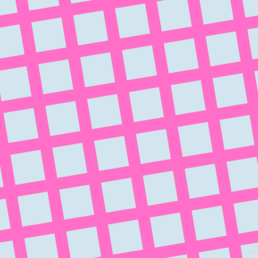 9/99 degree angle diagonal checkered chequered lines, 46 pixel line width, 118 pixel square size, Neon Pink and Pattens Blue plaid checkered seamless tileable