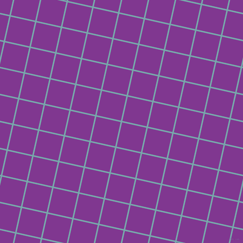 77/167 degree angle diagonal checkered chequered lines, 5 pixel line width, 84 pixel square size, Neptune and Vivid Violet plaid checkered seamless tileable