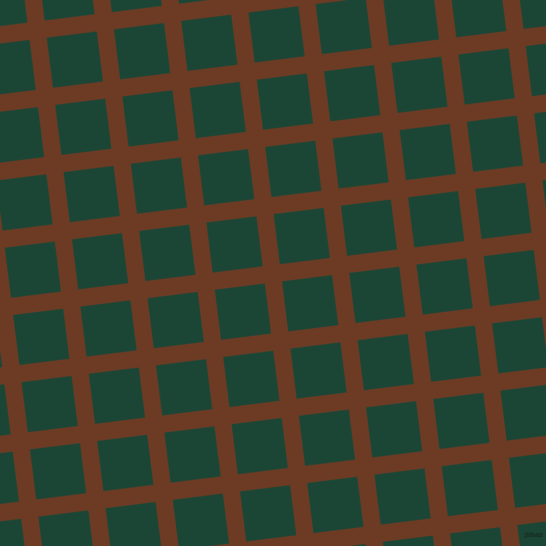 7/97 degree angle diagonal checkered chequered lines, 34 pixel line width, 99 pixel square size, New Amber and Sherwood Green plaid checkered seamless tileable