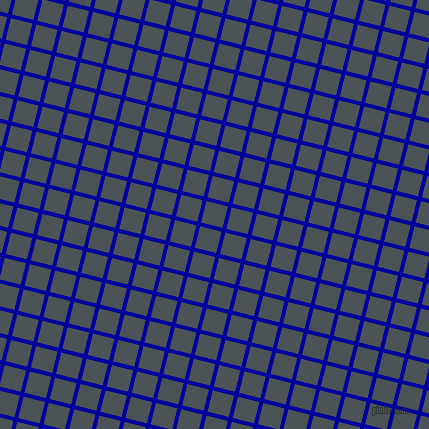 76/166 degree angle diagonal checkered chequered lines, 4 pixel lines width, 22 pixel square size, New Midnight Blue and Trout plaid checkered seamless tileable