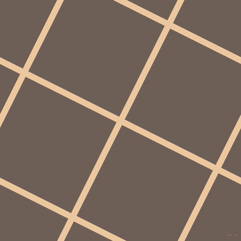 63/153 degree angle diagonal checkered chequered lines, 21 pixel lines width, 348 pixel square size, New Tan and Dorado plaid checkered seamless tileable