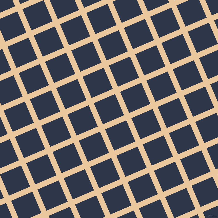 23/113 degree angle diagonal checkered chequered lines, 22 pixel lines width, 91 pixel square size, New Tan and Licorice plaid checkered seamless tileable