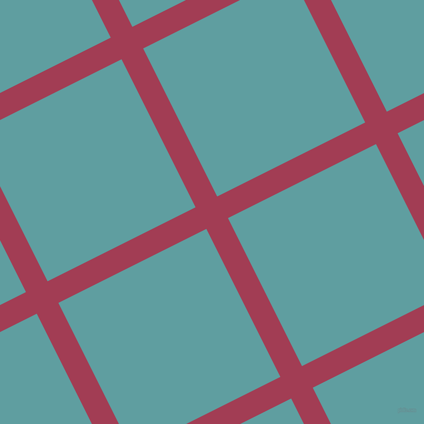27/117 degree angle diagonal checkered chequered lines, 47 pixel line width, 322 pixel square size, Night Shadz and Cadet Blue plaid checkered seamless tileable