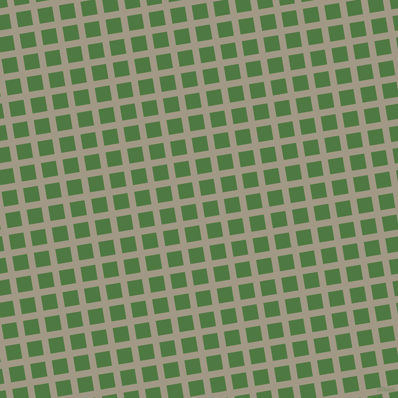 9/99 degree angle diagonal checkered chequered lines, 14 pixel line width, 31 pixel square size, Nomad and Fern Green plaid checkered seamless tileable