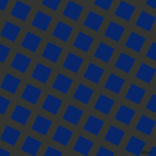 63/153 degree angle diagonal checkered chequered lines, 26 pixel line width, 52 pixel square size, Oil and Sapphire plaid checkered seamless tileable