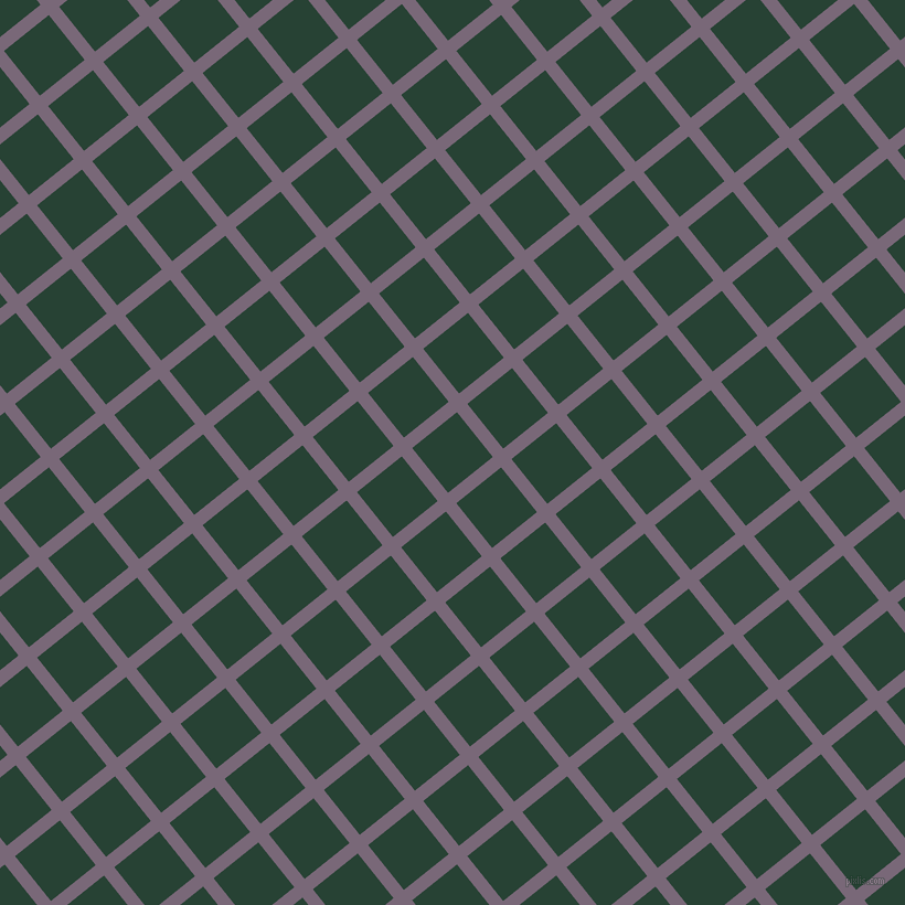 39/129 degree angle diagonal checkered chequered lines, 12 pixel line width, 52 pixel square size, Old Lavender and English Holly plaid checkered seamless tileable