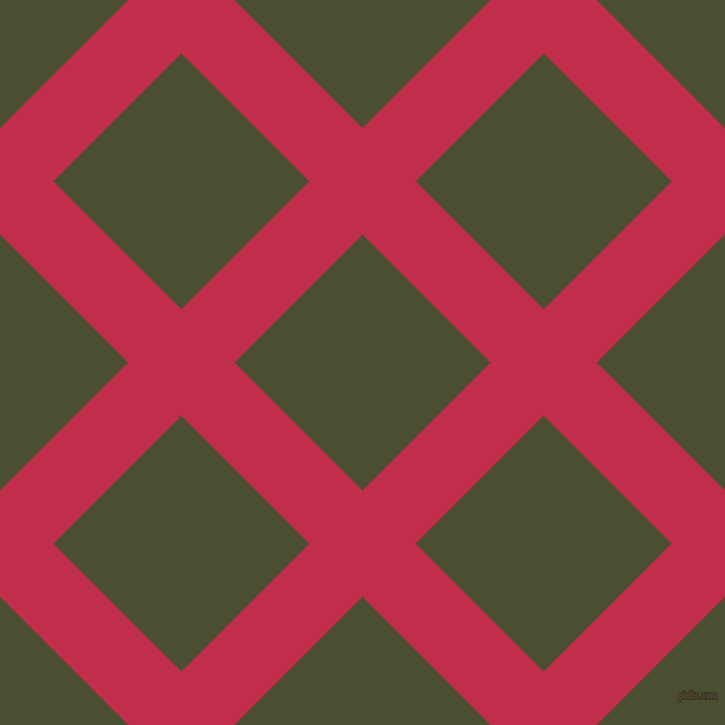 45/135 degree angle diagonal checkered chequered lines, 69 pixel lines width, 166 pixel square size, Old Rose and Waiouru plaid checkered seamless tileable