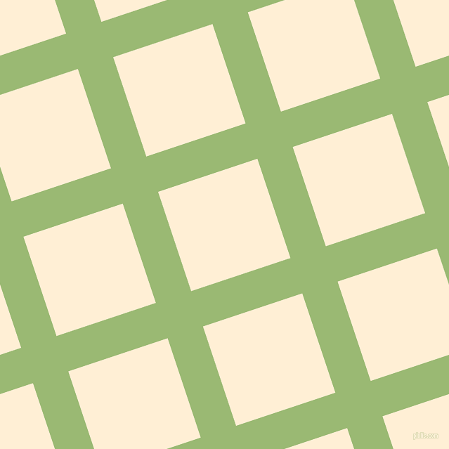 18/108 degree angle diagonal checkered chequered lines, 53 pixel lines width, 149 pixel square size, Olivine and Papaya Whip plaid checkered seamless tileable