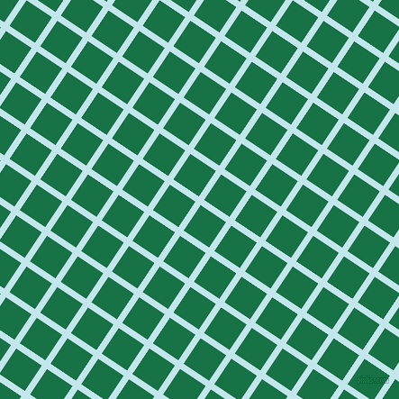 56/146 degree angle diagonal checkered chequered lines, 7 pixel lines width, 34 pixel square size, Onahau and Dark Spring Green plaid checkered seamless tileable
