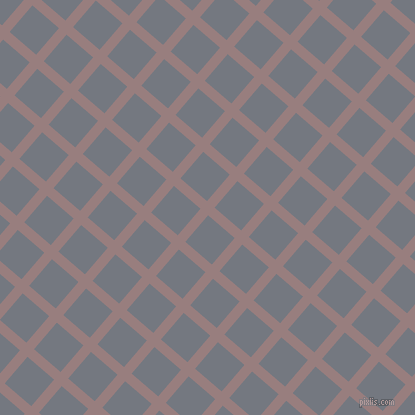 49/139 degree angle diagonal checkered chequered lines, 10 pixel lines width, 35 pixel square size, Opium and Storm Grey plaid checkered seamless tileable