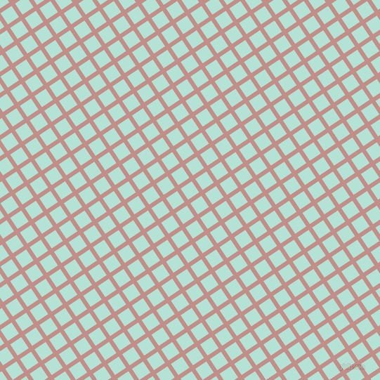 34/124 degree angle diagonal checkered chequered lines, 6 pixel line width, 19 pixel square size, Oriental Pink and Cruise plaid checkered seamless tileable