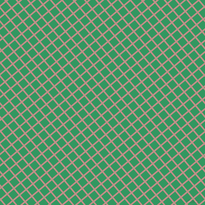 40/130 degree angle diagonal checkered chequered lines, 5 pixel lines width, 23 pixel square size, Oriental Pink and Eucalyptus plaid checkered seamless tileable