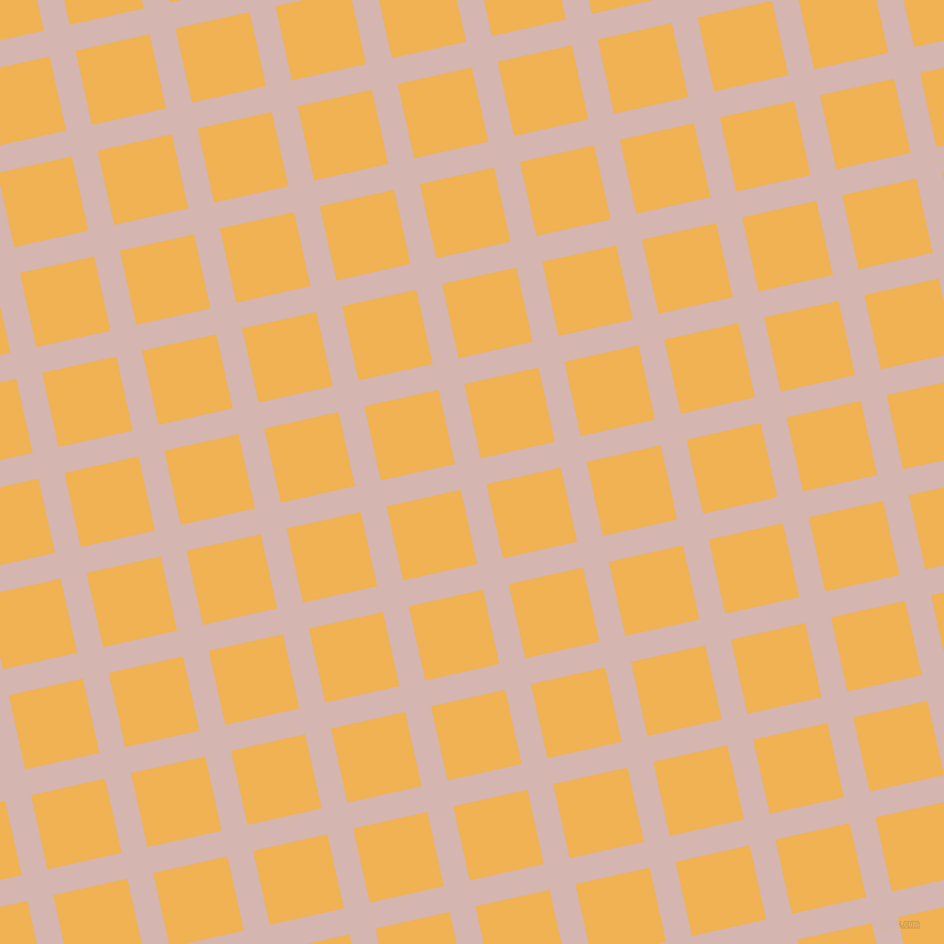 13/103 degree angle diagonal checkered chequered lines, 24 pixel line width, 69 pixel square size, Oyster Pink and Casablanca plaid checkered seamless tileable