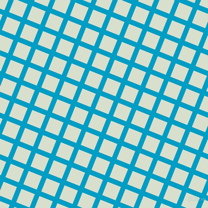 68/158 degree angle diagonal checkered chequered lines, 10 pixel lines width, 29 pixel square size, Pacific Blue and Gin plaid checkered seamless tileable