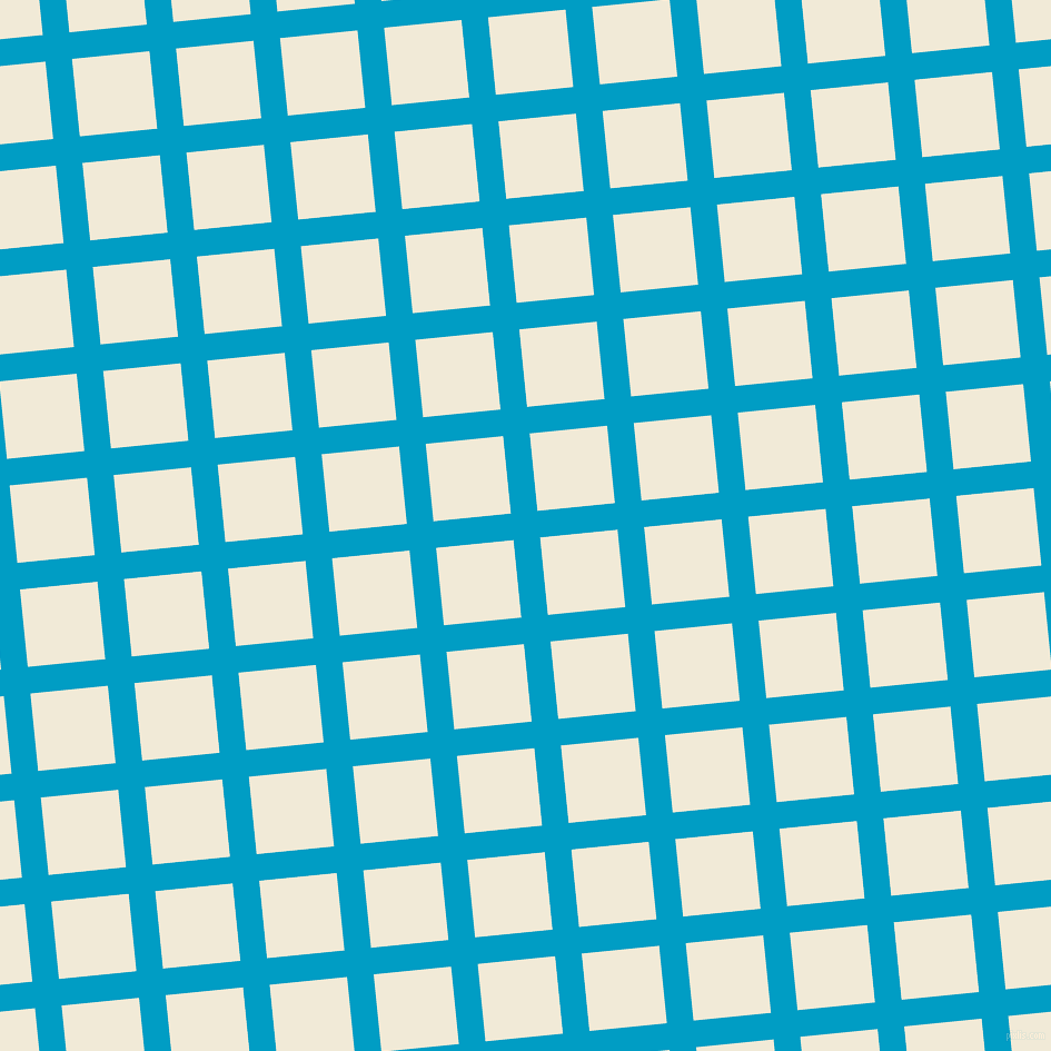 6/96 degree angle diagonal checkered chequered lines, 24 pixel line width, 70 pixel square size, Pacific Blue and Half Pearl Lusta plaid checkered seamless tileable
