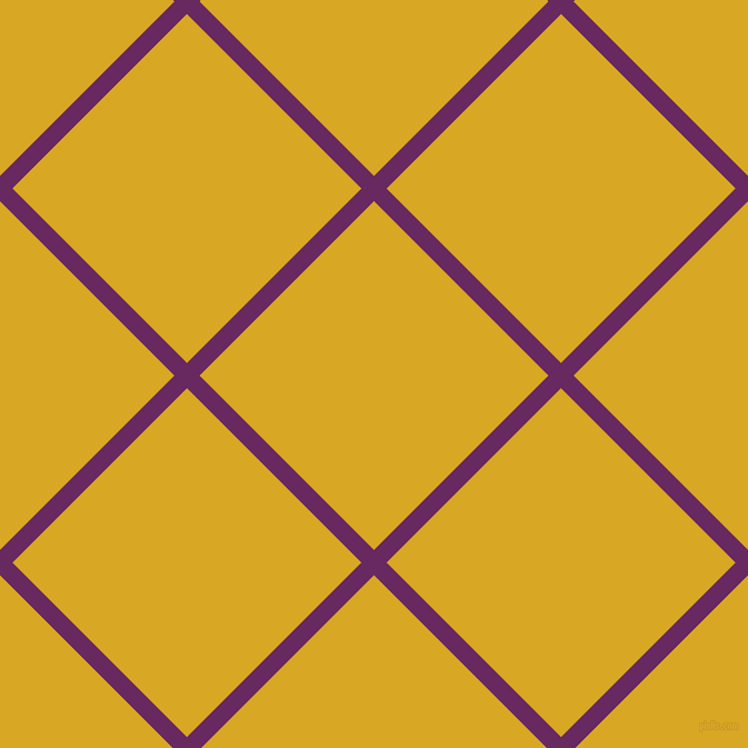 45/135 degree angle diagonal checkered chequered lines, 16 pixel lines width, 222 pixel square size, Palatinate Purple and Galliano plaid checkered seamless tileable