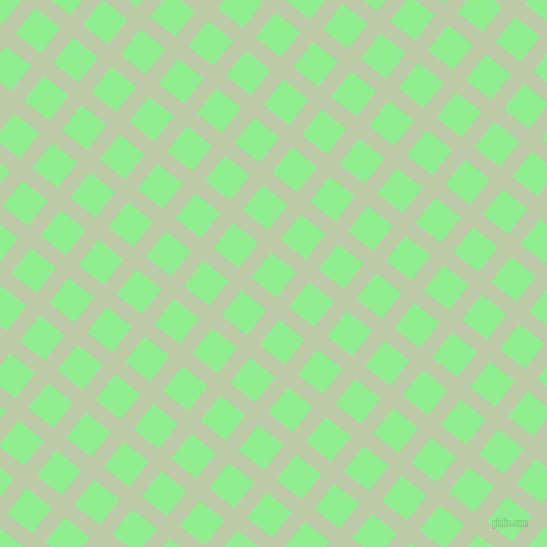 52/142 degree angle diagonal checkered chequered lines, 16 pixel line width, 32 pixel square size, Pale Leaf and Light Green plaid checkered seamless tileable