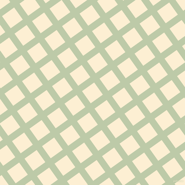 36/126 degree angle diagonal checkered chequered lines, 23 pixel line width, 52 pixel square size, Pale Leaf and Varden plaid checkered seamless tileable