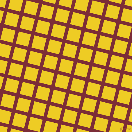 76/166 degree angle diagonal checkered chequered lines, 12 pixel line width, 43 pixel square size, Paprika and Broom plaid checkered seamless tileable