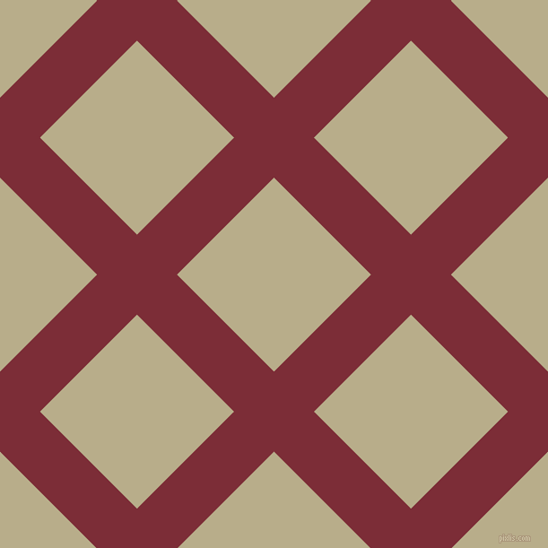 45/135 degree angle diagonal checkered chequered lines, 63 pixel lines width, 153 pixel square size, Paprika and Chino plaid checkered seamless tileable