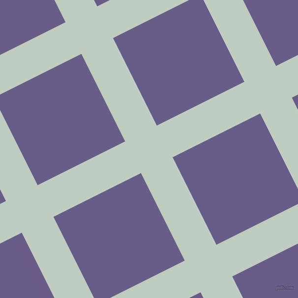 27/117 degree angle diagonal checkered chequered lines, 72 pixel line width, 199 pixel square size, Paris White and Kimberly plaid checkered seamless tileable