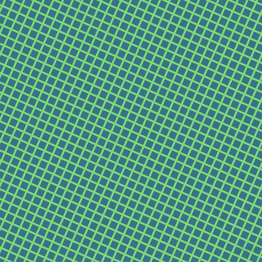 66/156 degree angle diagonal checkered chequered lines, 4 pixel line width, 14 pixel square size, Pastel Green and Calypso plaid checkered seamless tileable